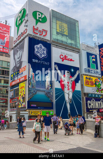 Japan, Osaka City, Dotombori Area, - Stock Image
