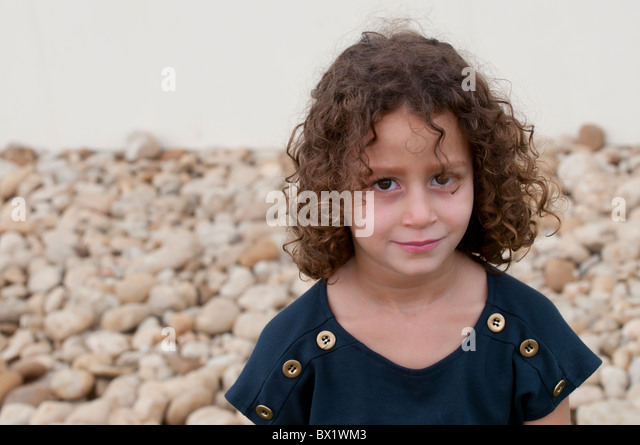 Pretty girl standing on the beach Beirut Lebanon Middle East - Stock Image