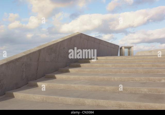 Concrete steps, Copenhagen, Denmark - Stock-Bilder