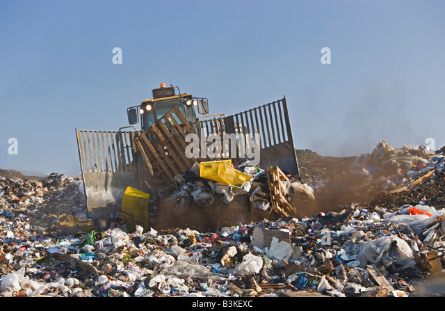 Landfills With Tractors : Compactor stock photos images alamy