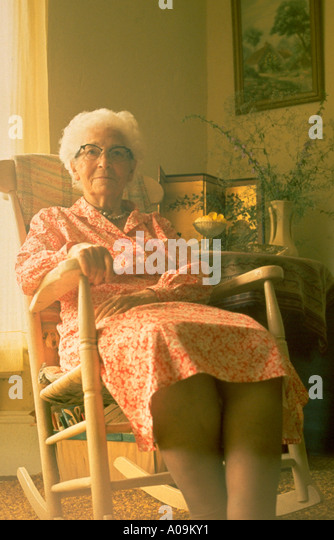 Chairs For The Elderly >> Old Woman Rocking Chair Stock Photos & Old Woman Rocking Chair Stock Images - Alamy