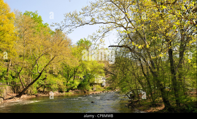 Brandywine River, Delaware, near the Hagley Museum - Stock Image