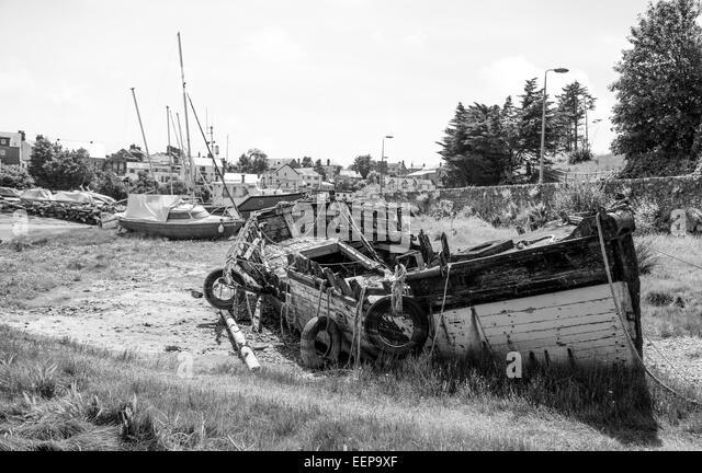 Abersoch Boat Yard, Wales - Stock Image