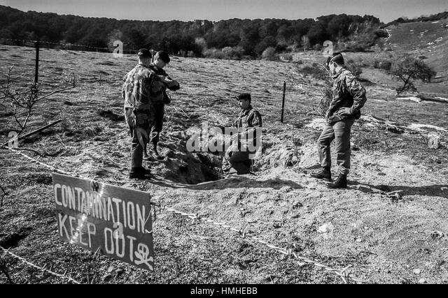 Bomb Disposal Black And White Stock Photos & Images