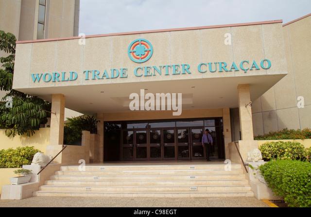 Curaçao Netherlands Antilles Dutch Piscadera World Trade Center Curaçao centre entrance front building - Stock Image