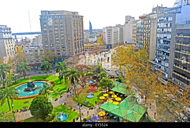 Plaza Fabini Montevideo Uruguay - Stock Image