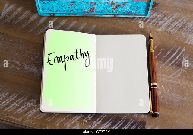 Handwritten Text Empathy - Stock Image