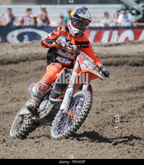 Tooele (UT) United States  City pictures : Tooele, UT, USA. 15th Aug, 2015. # 5 Ryan Dungey tries to close in on ...