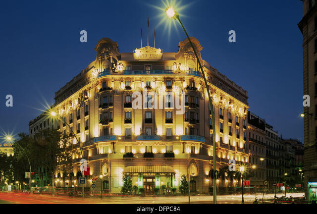 Hotel ritz barcelona spain stock photos hotel ritz - Hotel palace de barcelona ...