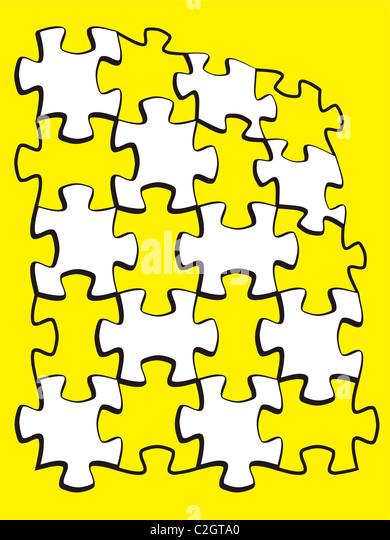 puzzle colored parts backgrounds. - Stock-Bilder