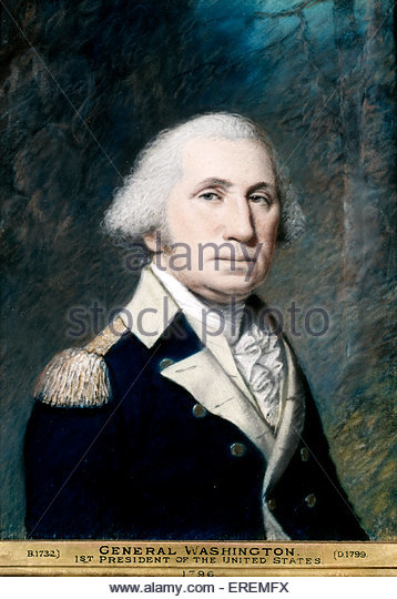George Washington by James Sharples. First constitutional President of the United States of America from 1789 to - Stock Image