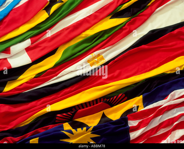 Flags of many nations - Stock-Bilder