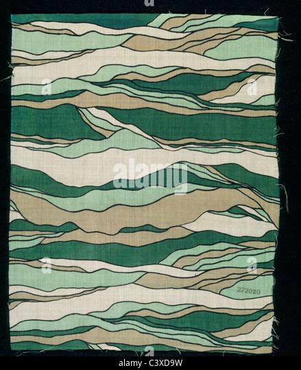 Dress fabric, by Chanel. Paris, France, 1929 - Stock-Bilder