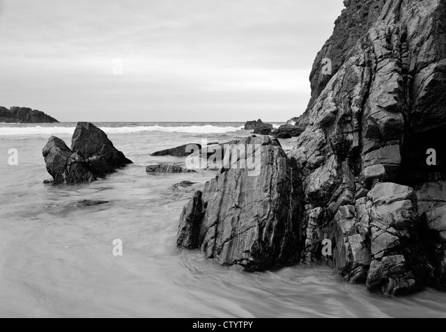 The remote beach of Mangursta on the Isle of Lewis, Scotland - Stock Image