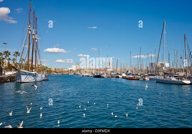 Barcelona Port, Barcelona, Catalonia, Spain - Stock Image