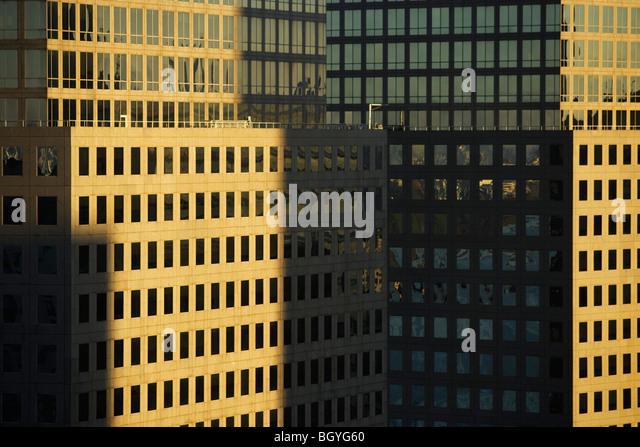 Skyscraper facade, cropped - Stock Image