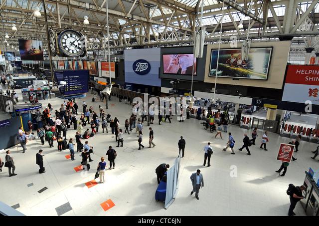 Waterloo Train Station, Waterloo Station London, Britain, UK - Stock Image