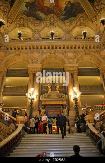Palais Garnier Paris Opera House - Stock Image