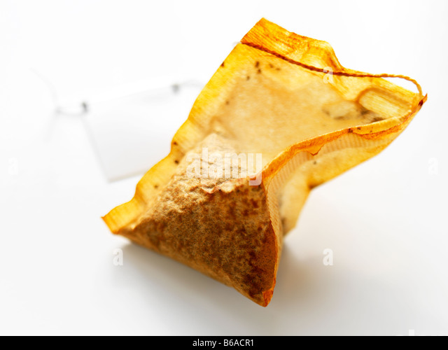 organic orange pekoe black tea bag - Stock Image