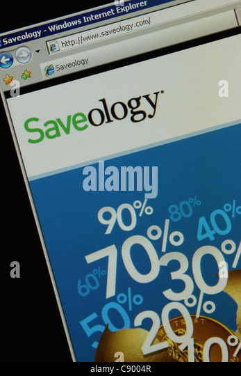 saveology saveology.com - Stock Image