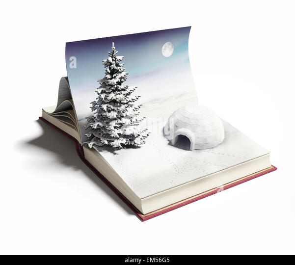 igloo on the open book - Stock Image