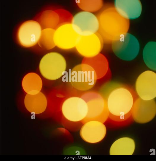 Soft focus Christmas lights - Stock Image