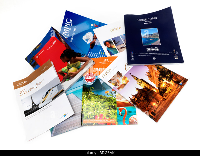 Selection of Travel Brochures Undated - Stock-Bilder