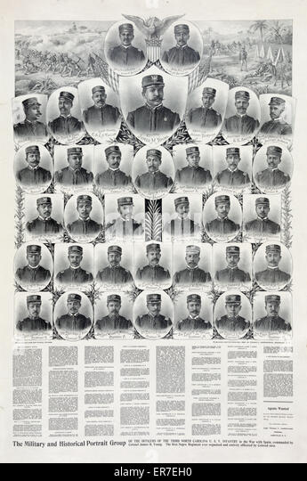 The military and historical portrait group. - Stock Image