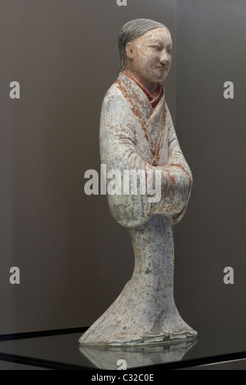Servante Han period - China Cernuschi Museum - Paris - Stock Image
