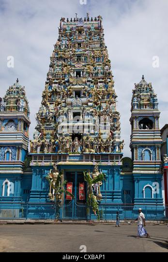 Hindu Temple, Colombo, Sri Lanka, Asia - Stock Image