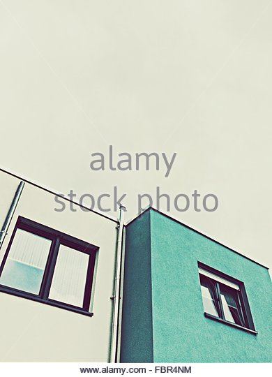 Low Angle View Of Buildings Against Clear Sky - Stock-Bilder