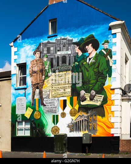 Irish volunteers stock photos irish volunteers stock for Easter rising mural