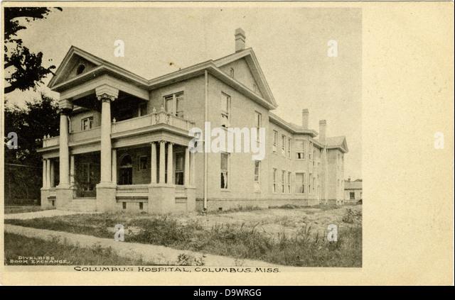 Columbus Hospital, Columbus, Miss. - Stock-Bilder