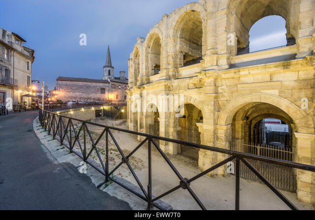 Roman Amphithetre, Arles, Provence, Bouche du Rhone, France - Stock Image