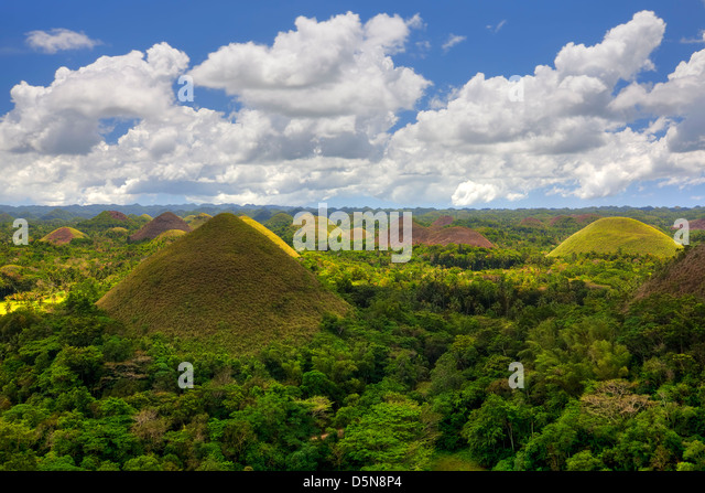 Chocolate Hills - Stock-Bilder