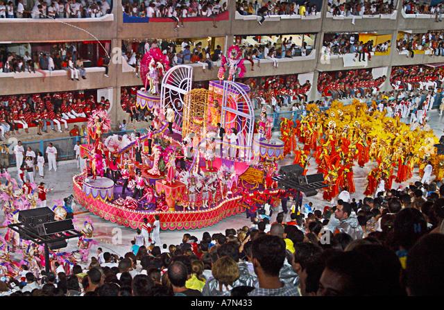 Rio de Janeiro canival Sambadromo Samba School - Stock Image