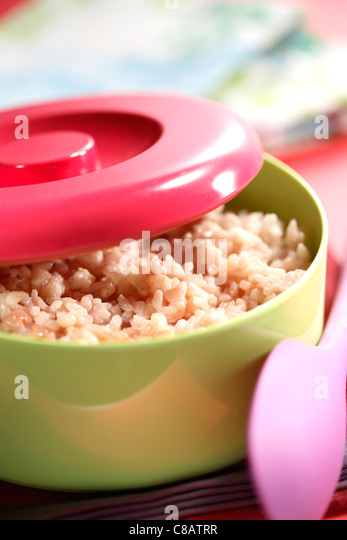 Leaving the rice to cool off - Stock-Bilder