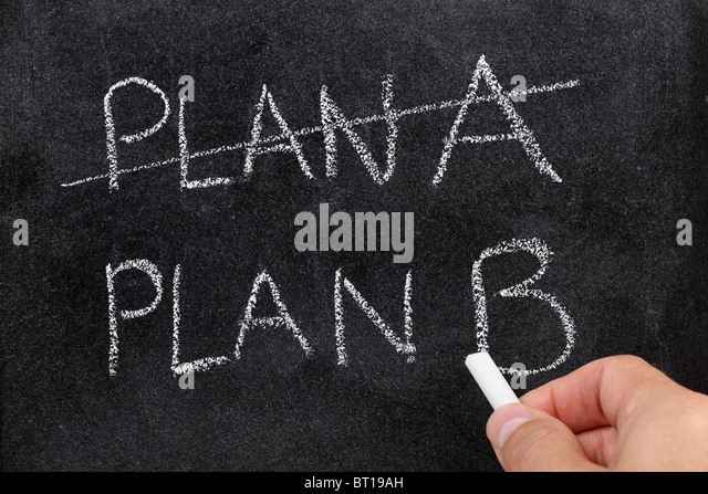 Plan B - Stock Image