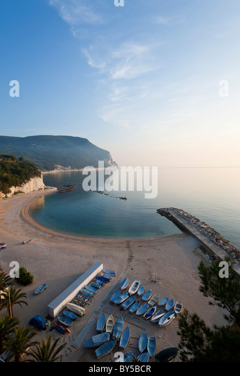 Beach, Sirolo, Marche, Italy - Stock Image