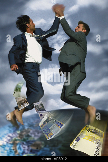 Joyful businessmen - Stock Image