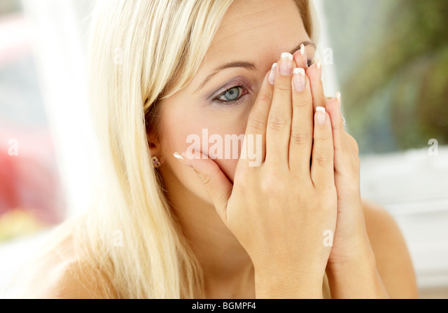 Upset girl - Stock Image