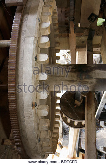 Mackinaw City Michigan Mackinac State Historic Parks Park Historic Mill Creek Discovery Park Water-powered Sawmill - Stock Image