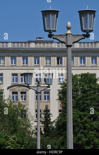 Architektur, Karl-Marx-Allee, Friedrichshain, Berlin, Deutschland - Stock-Bilder