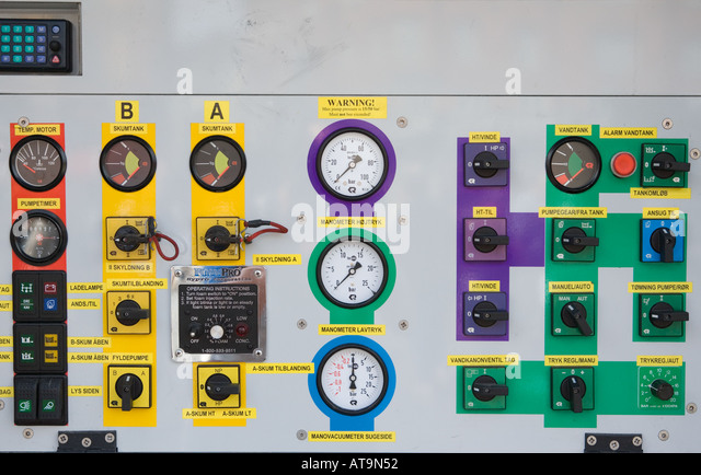 Semi Truck Control Panel : Control knobs stock photos images