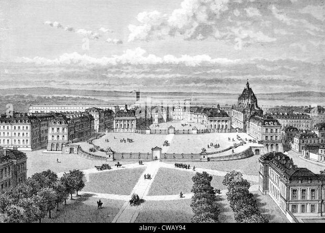 Versailles, c. 19th century. - Stock Image