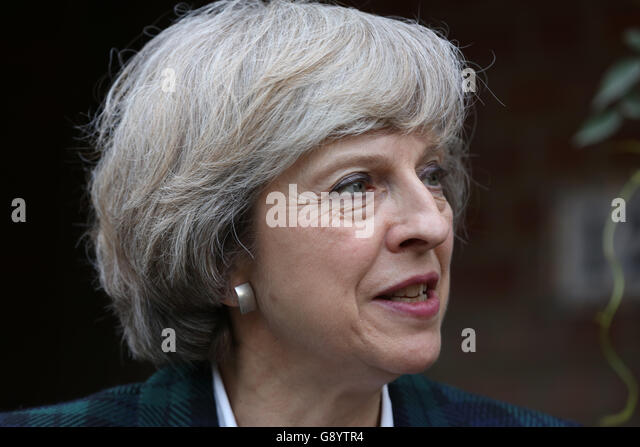 London, UK, 30th June, 2016. Theresa May arrives at Hampstead and Kilburn constituents house to give a short talk - Stock Image