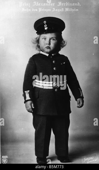 1 A454 B1914 E Alexander Ferdinand of Prussia 1914 Alexander Ferdinand prince of Prussia son of prince August Wilhelm - Stock Image