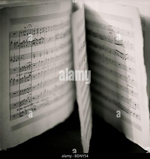 Sheet music - Stock-Bilder