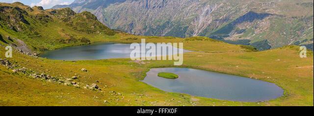 Valley of seven lakes, Caucasus mountains, Abkhazia, Georgia - Stock Image