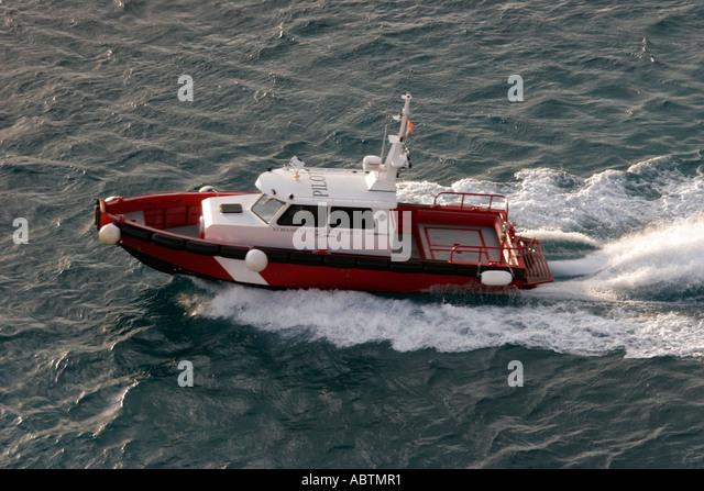 Sint Maarten Philipsburg pilot boat Ports Authority - Stock Image